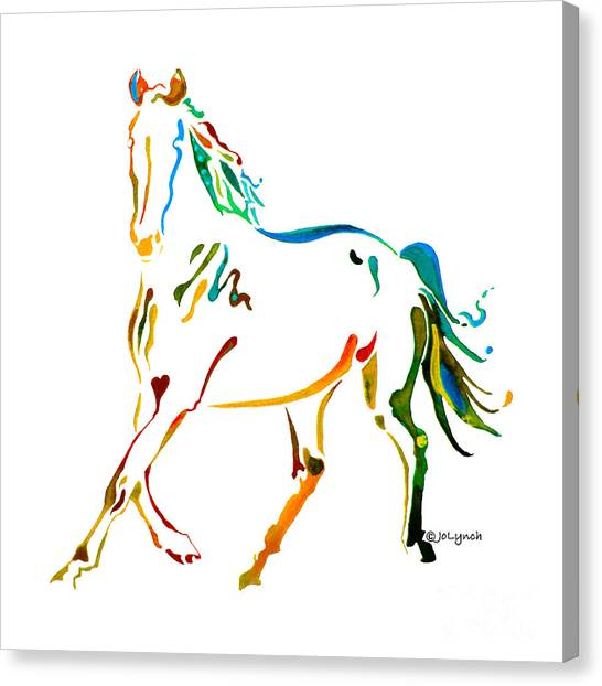 Horse Of Many Colors - 2 Canvas Print