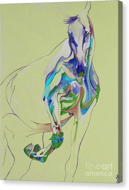 Horse Painting 675k Canvas Print by Yaani Art