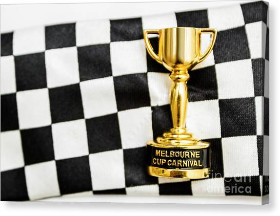Presentations Canvas Print - Horse Races Trophy. Melbourne Cup Win by Jorgo Photography - Wall Art Gallery