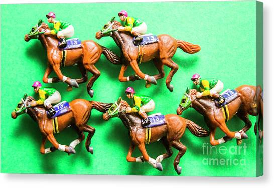 Thoroughbreds Canvas Print - Horse Racing Carnival by Jorgo Photography - Wall Art Gallery