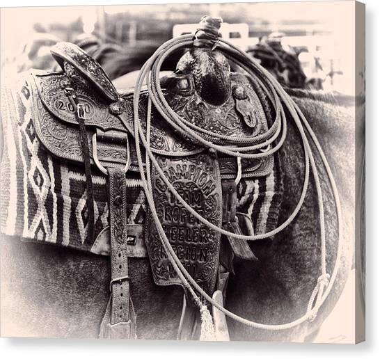 Horse Saddle Canvas Print