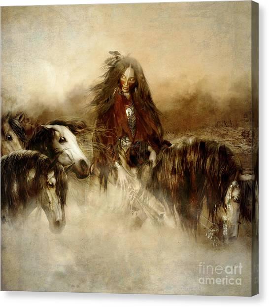 Horse Spirit Guides Canvas Print