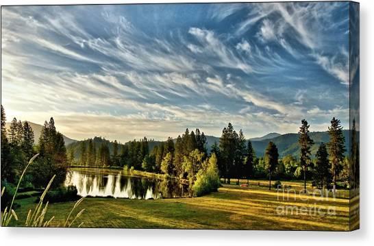 Horse Tail Heaven Canvas Print