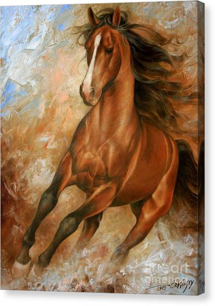 Abstract Horse Canvas Print - Horse1 by Arthur Braginsky