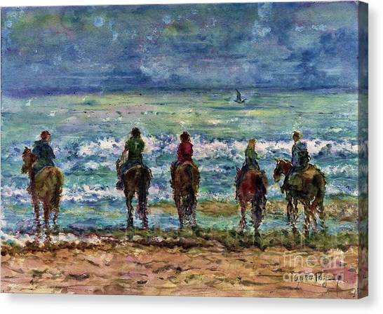 Horseback Beach Memories Canvas Print