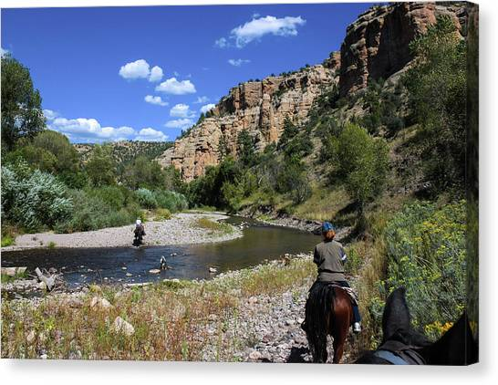 Horseback In The Gila Wilderness Canvas Print