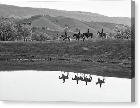 Horseback Landscape Canvas Print