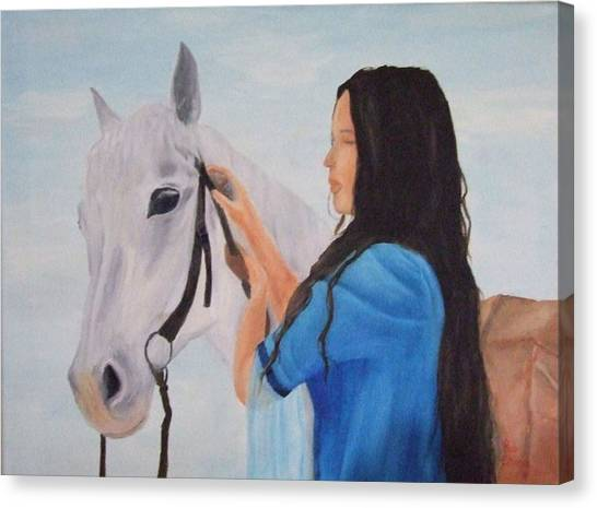 Horselady Canvas Print by Robert Silvera