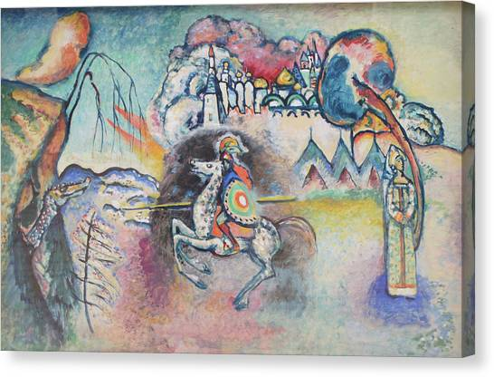 Horseman. St. George Canvas Print by Wassily Kandinsky