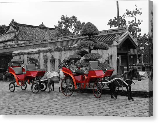 Horses And Carriages Canvas Print