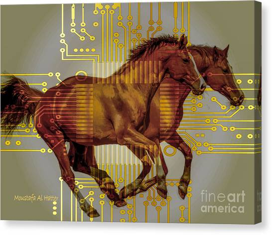 The Sound Of The Horses. Canvas Print