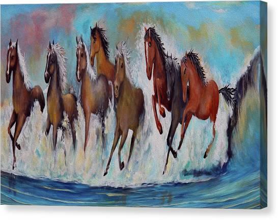 Horses Of Success Canvas Print