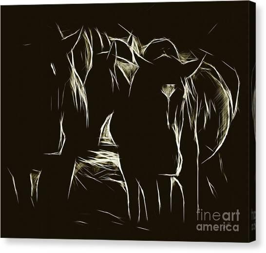 Canvas Print - Horses On Black by Elijah Knight