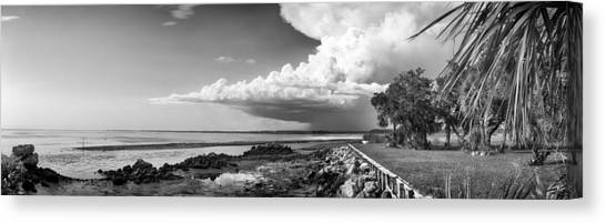 Canvas Print featuring the photograph Horseshoe Beach by Howard Salmon