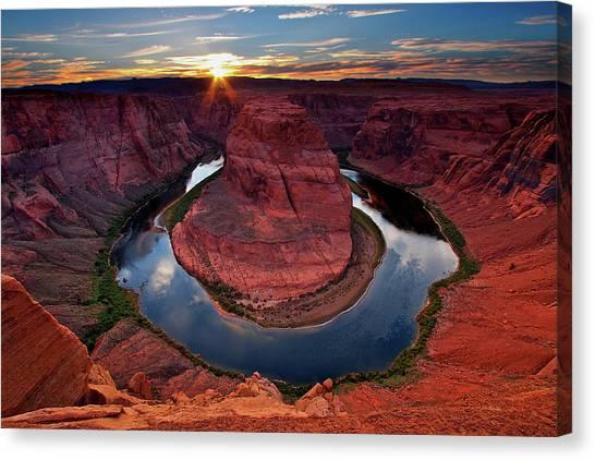 Colorado River Canvas Print - Horseshoe Bend Arizona by Dave Dill