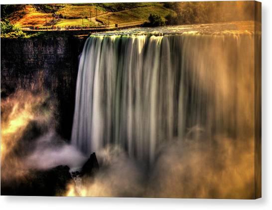 Horseshoe Falls Early Autumn No 03 Canvas Print