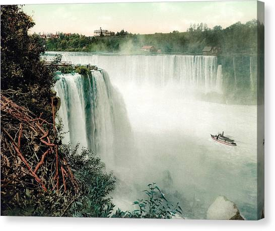 Horseshoe Falls Canvas Print - Horseshoe Falls Of Niagara - View From Goat Island by War Is Hell Store