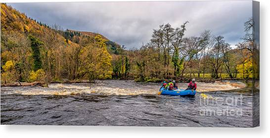 Kayaks Canvas Print - Horseshoe Falls Rafting by Adrian Evans