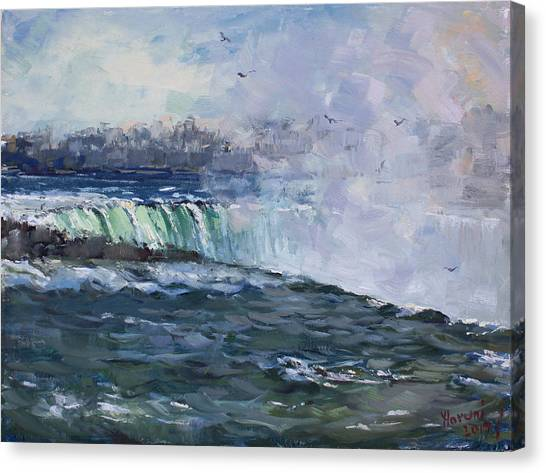 Horseshoe Falls Canvas Print - Horseshoe Falls by Ylli Haruni