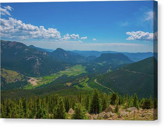 Horseshoe Park From Rainbow Curve 1 Canvas Print