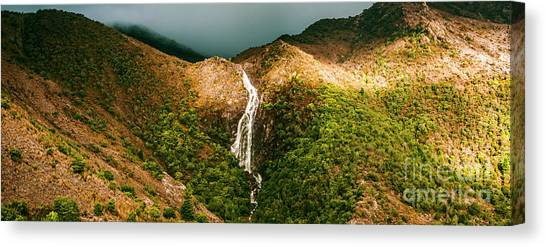 Spring Scenery Canvas Print - Horsetail Falls In Queenstown Tasmania by Jorgo Photography - Wall Art Gallery