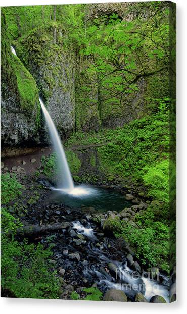 Horsetail Falls Waterfall Art By Kaylyn Franks Canvas Print