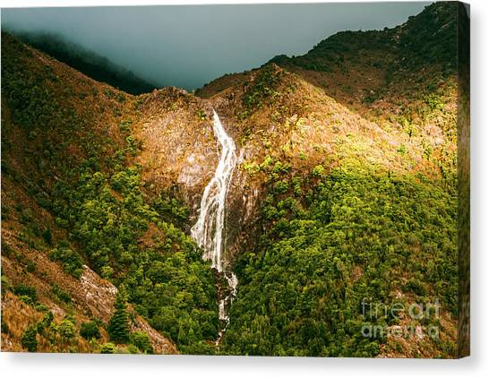 Cliff Canvas Print - Horsetail Waterfalls Tasmania  by Jorgo Photography - Wall Art Gallery