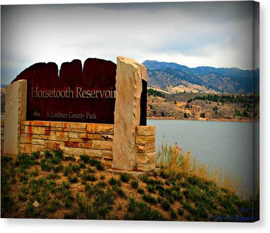 Horsetooth Peak Above The Reservoir Canvas Print