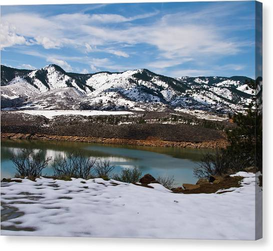 Horsetooth Reservoir Canvas Print