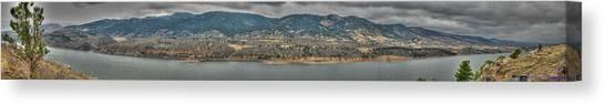 Horsetooth Reservoir Panoramic Hdr Canvas Print