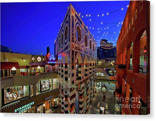Horton Plaza Shopping Center Canvas Print