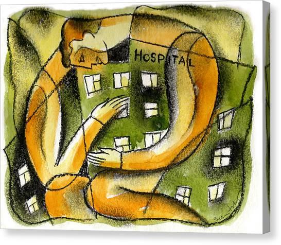 Health Insurance Canvas Print - Hospital by Leon Zernitsky