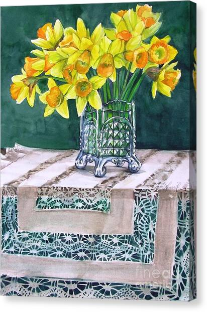 Host Of Daffodils Canvas Print