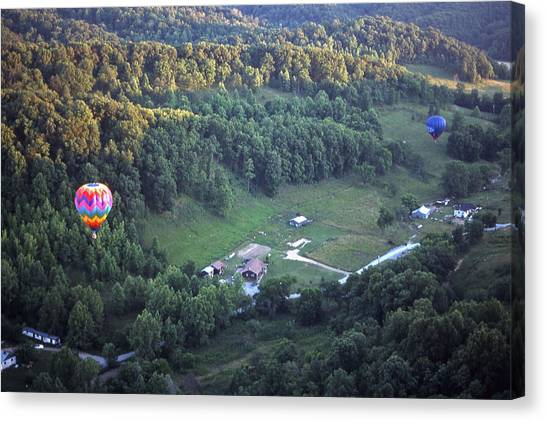 Hot Air Balloon - 3 Canvas Print by Randy Muir