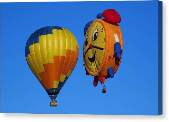 Hot Air Balloon Conversation Canvas Print