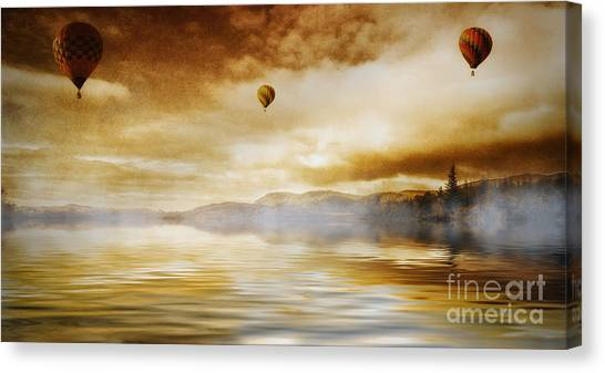 Hot Air Balloon Escape Canvas Print