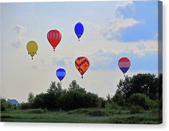 Canvas Print featuring the photograph Hot Air Balloon Launch by Angela Murdock