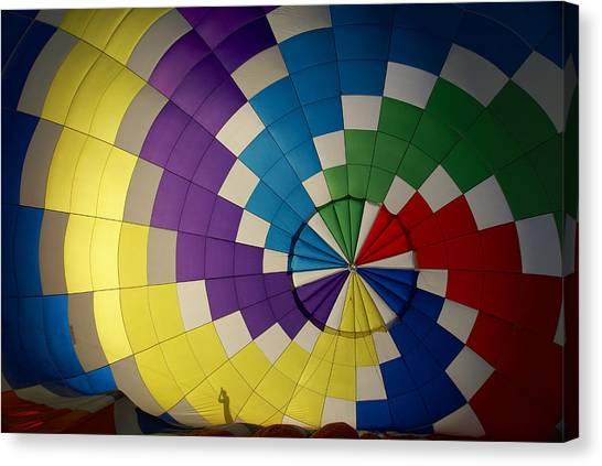 Hot Air Balloon Silhouette Canvas Print