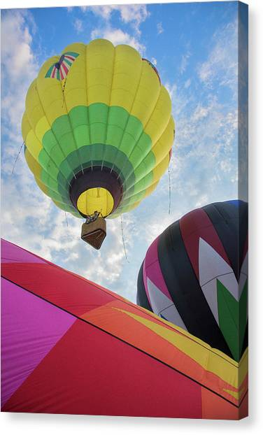 Hot Air Balloon Takeoff Canvas Print