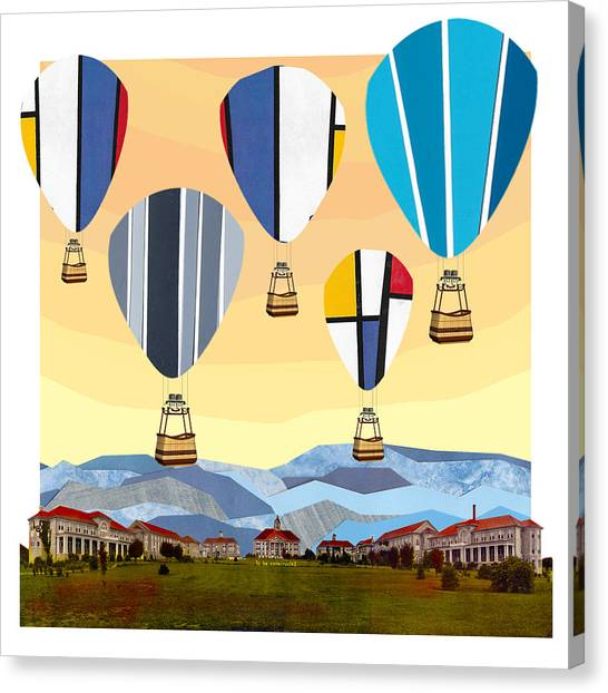 James Madison University Jmu Canvas Print - Hot Air Balloons by Matt Jarrels