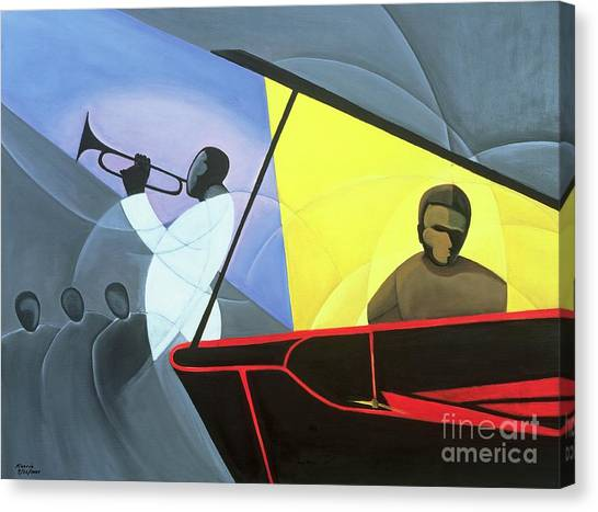 Music Canvas Print - Hot And Cool Jazz by Kaaria Mucherera