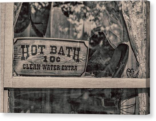 Hot Bath Canvas Print