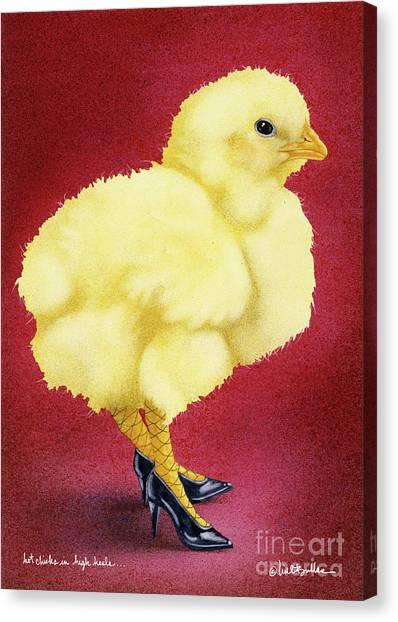 Chicken Canvas Print - Hot Chicks In High Heels... by Will Bullas