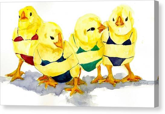 Hot Chicks...henpecking Not Allowed Canvas Print