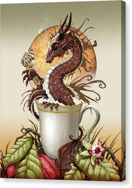 Hot Chocolate Dragon Canvas Print