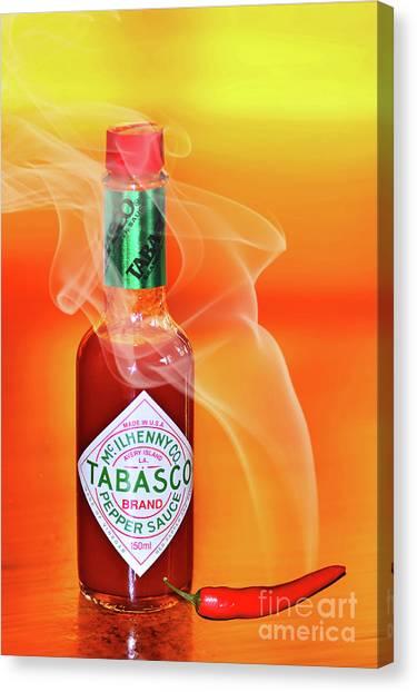 Hot Sauce Canvas Print - Hot Cravings By Kaye Menner by Kaye Menner