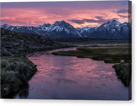 Hot Creek Sunset Canvas Print