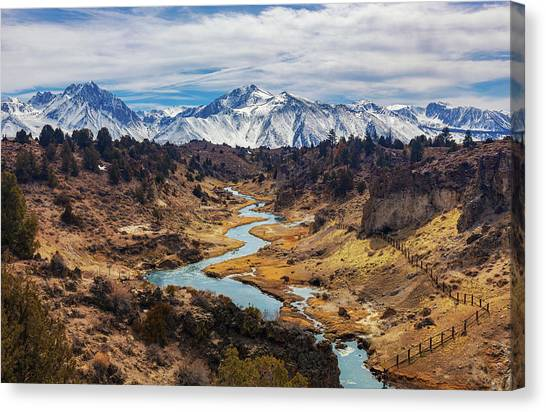 Canvas Print featuring the photograph Hot Creek by Tassanee Angiolillo