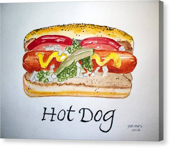 Hot Dog Canvas Print