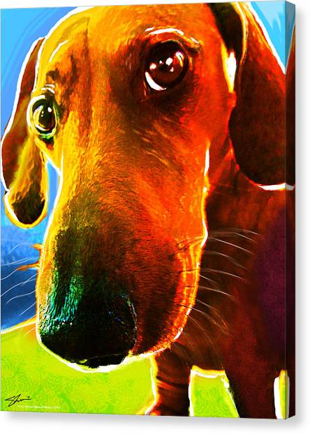 Hot Dog With Relish Canvas Print